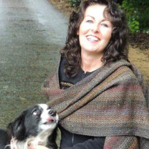 Hand woven scarf Kavanagh inspired Inniskeen Station