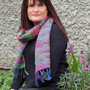Waterlillies-Mardigras-Boucle-Scarf