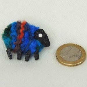 scale euro-coin Biba sheep brooch