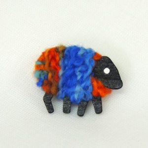 lizzyc|sheep|brooch|christine|blue_orange