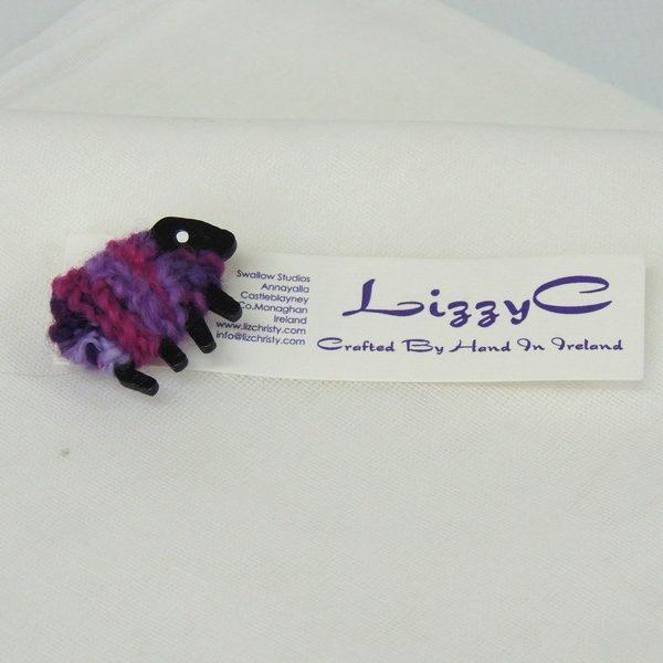 liz christy sheep brooch dolly card