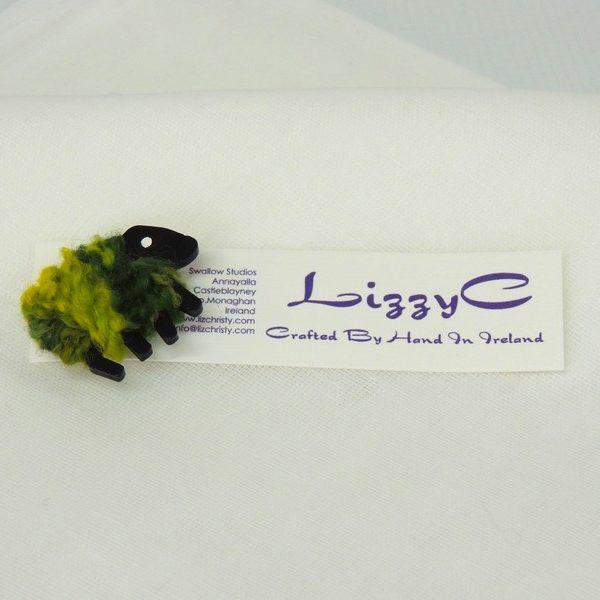 LizzyC|Sheep|Greengrass|Brooch|with|displaycard