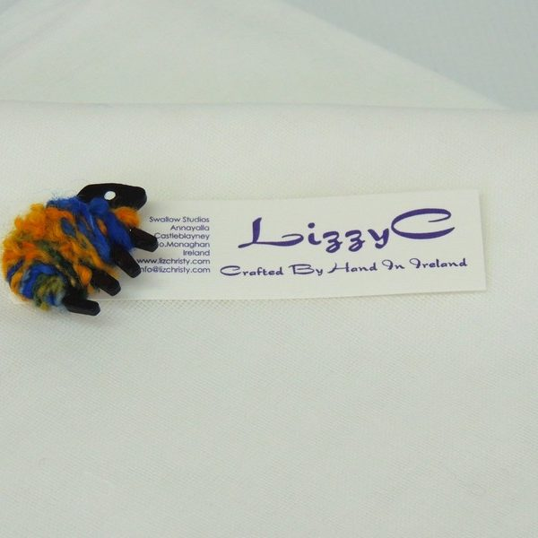 LizzyC Sheep Brooch hazel displaycard