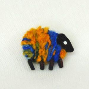 blue_gold_LizzyC Sheep brooch Hazel