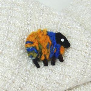 LizzyC Sheep Pin Hazel blue_gold