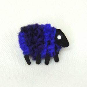 irish sheep pin layla purple 