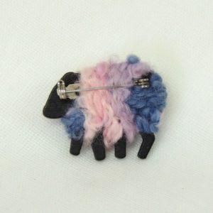 back view sheep LizzyC brooch soft_pink_mauve