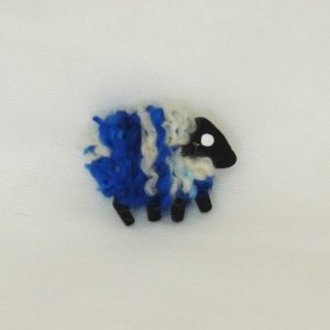 front|view|blue_white|sheep|pin