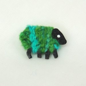 green|sheep|brooch|polly|front