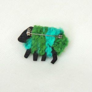 back|view|polly|green|sheep|pin