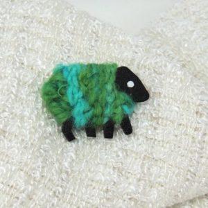 liz|christy|green|sheep|brooch|polly