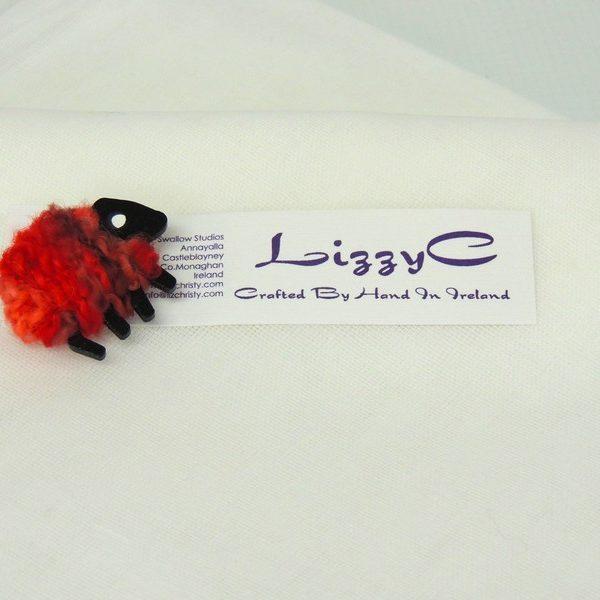 lizzyC|Sheep|Poppy|Brooch|on-card
