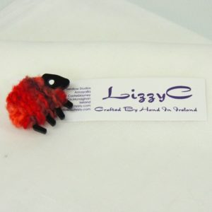 lizzyC|Sheep|Poppy|Brooch|on-card