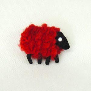 rubyred sheep pin front view