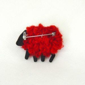 rubyred sheep brooch back view