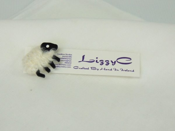 LizzyC Sheep White Brooch