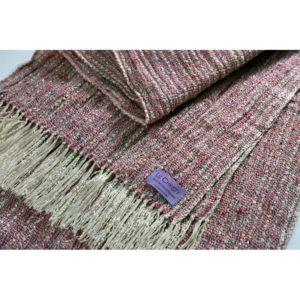 Hand woven scarf Renaissance tabby bramble