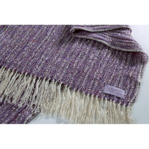 Hand woven scarf Renaissance tabby orchid