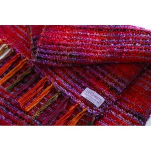Hand woven scarf valley of the creuse purple desire