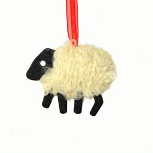 LizzyC Sheep Christmas decoration white