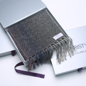 Stoney Grey Scarf and Gift Packaging