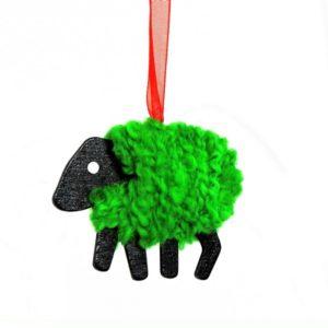 LizzyC Sheep Christmas decoration green